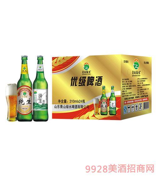 青山绿水优级啤酒310mlx24