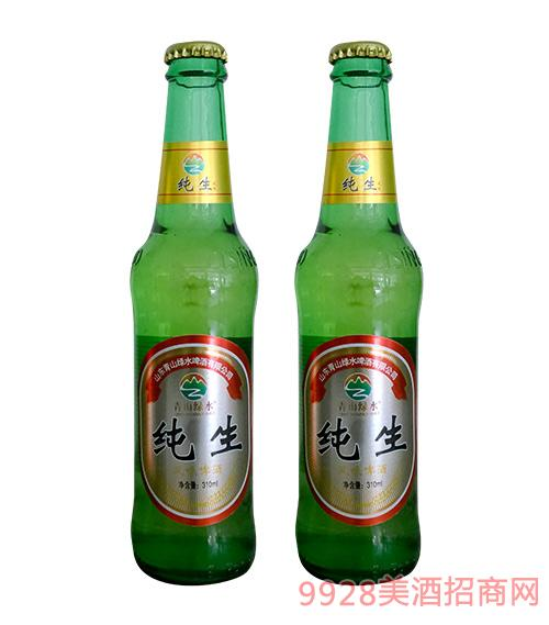 青山绿水纯生风味啤酒310mlx24