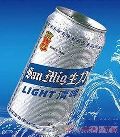 生力啤酒罐装清啤330ml