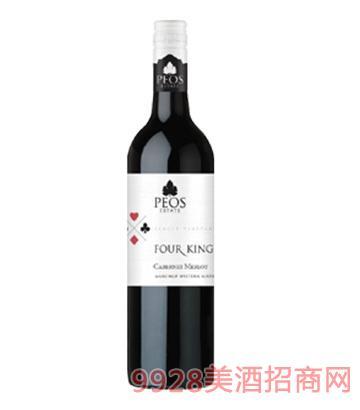 国王系列赤霞珠梅洛干红葡萄酒14度