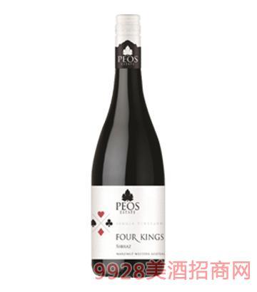 国王系列西拉干红葡萄酒14.5度