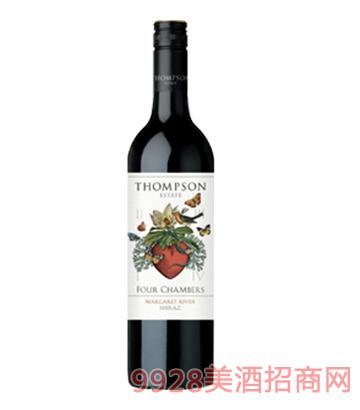 心房系列西拉干红葡萄酒14度