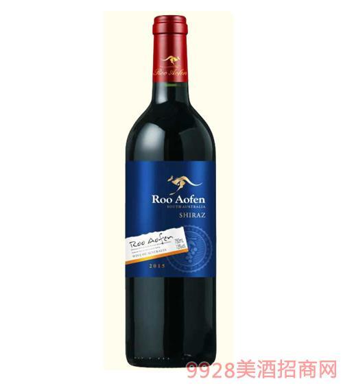 澳芬袋鼠西拉干红葡萄酒2015-13度750ml