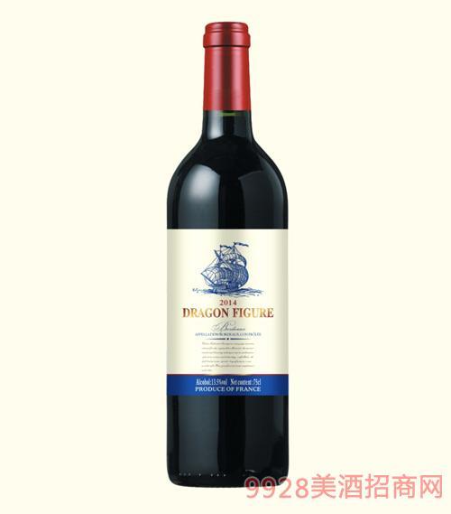 龙船图干红葡萄酒2014-13.5度750ml