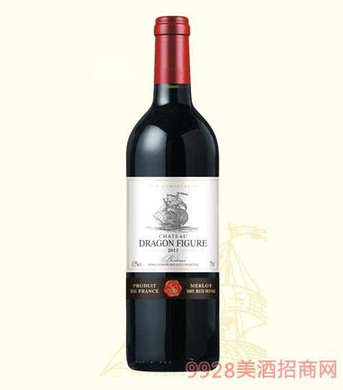 龙船图干红葡萄酒2013-13.5度750ml
