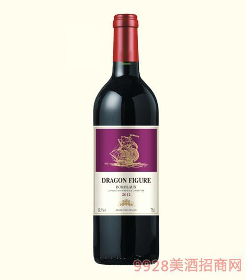 龙船图干红葡萄酒2012-13.5度750ml