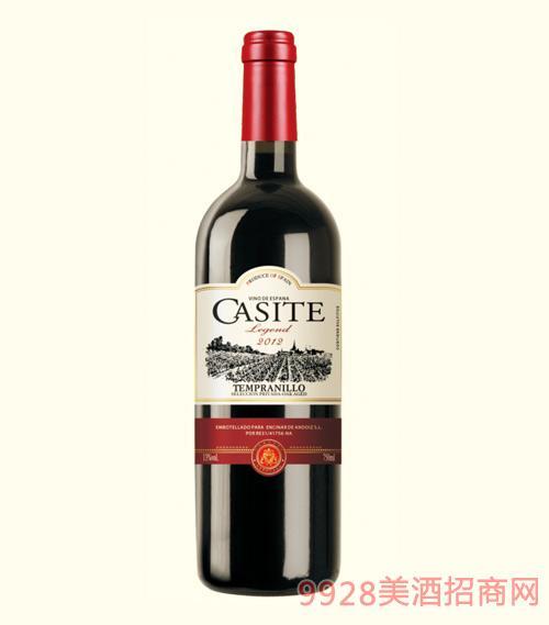 卡斯特传奇干红葡萄酒2012-13度750ml