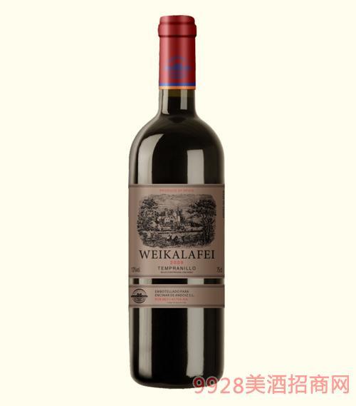 威卡拉菲干红葡萄酒2009-13度750ml