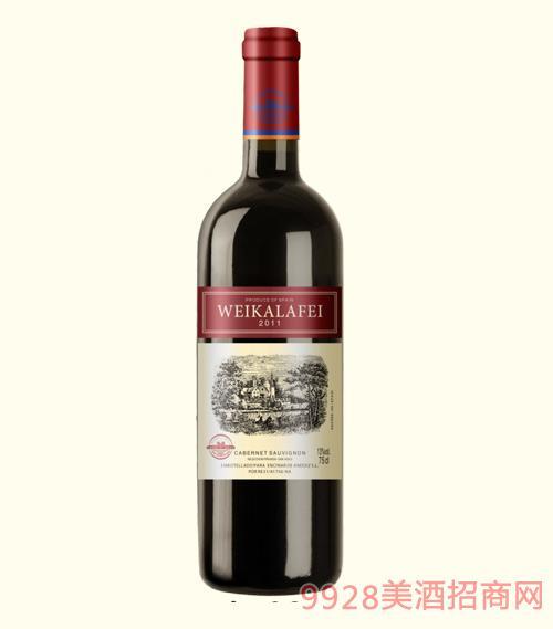 威卡拉菲干红葡萄酒2011-13度750ml