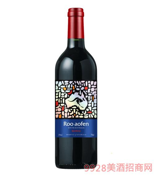 澳芬袋鼠袋鼠王红葡萄酒(蓝)13度750ml