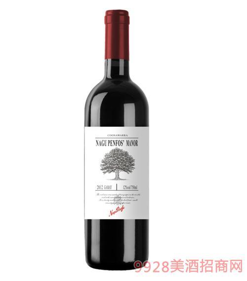 纳谷奔富干红葡萄酒12度750ml