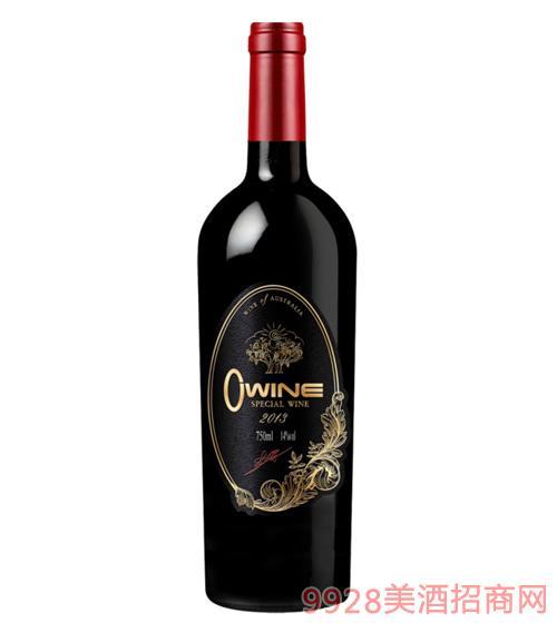 澳维尔葡园精品干红葡萄酒14度750ml