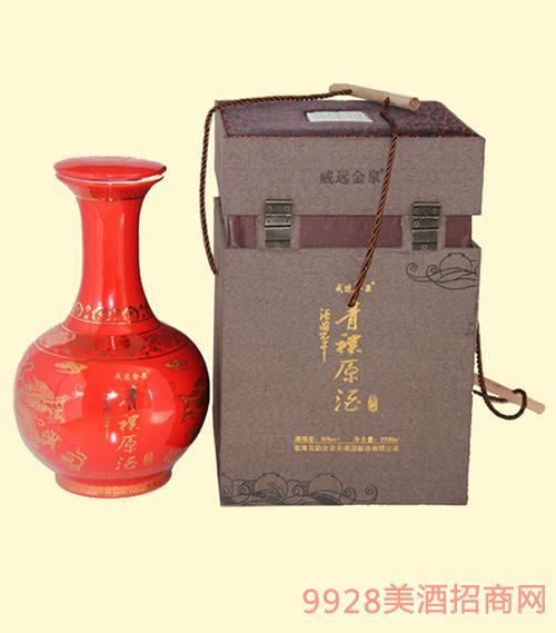 酒海不干青稞原酒红瓷坛60度2000ml清香型白酒