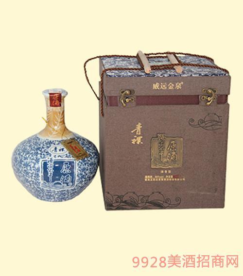 酒海不干青稞原酒蓝盒青花瓷60度2500ML清香型白酒