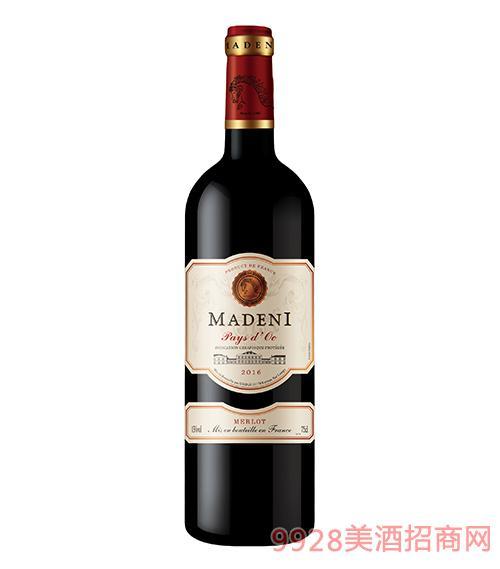 玛德尼美乐干红葡萄酒13度750ml