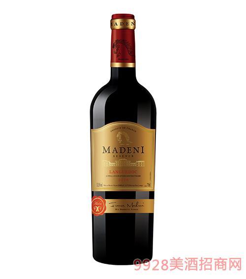 玛德尼珍藏干红葡萄酒13.5度750ml