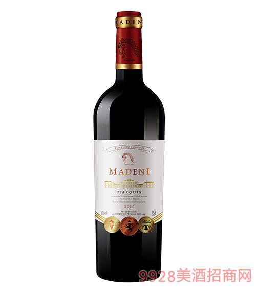 玛德尼侯爵干红葡萄酒13度750ml