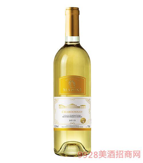 瑪德尼霞多麗干白葡萄酒12.5度750ml