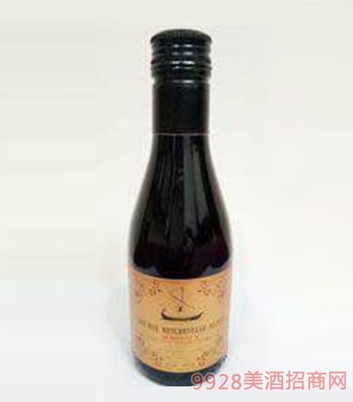 法国波尔多龙船酒庄干红葡萄酒13度187ml