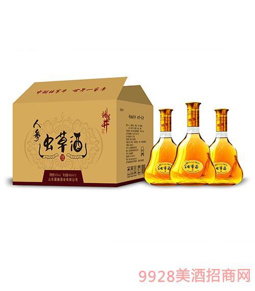 将军井人参虫草酒42度485ml