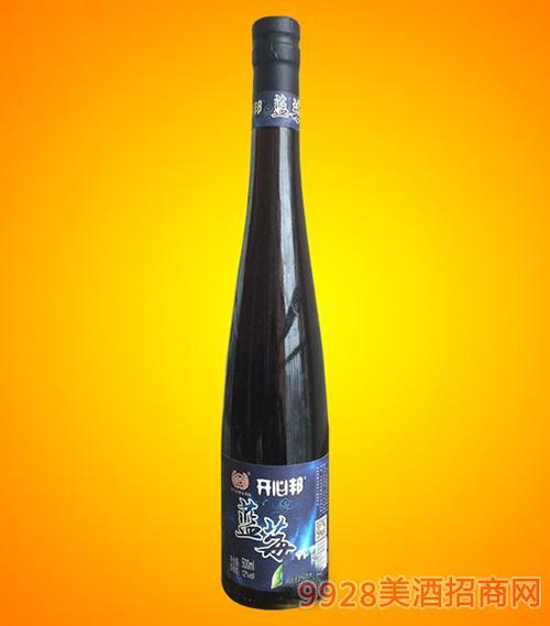 黄氏开心邦蓝莓酒(红酒瓶)