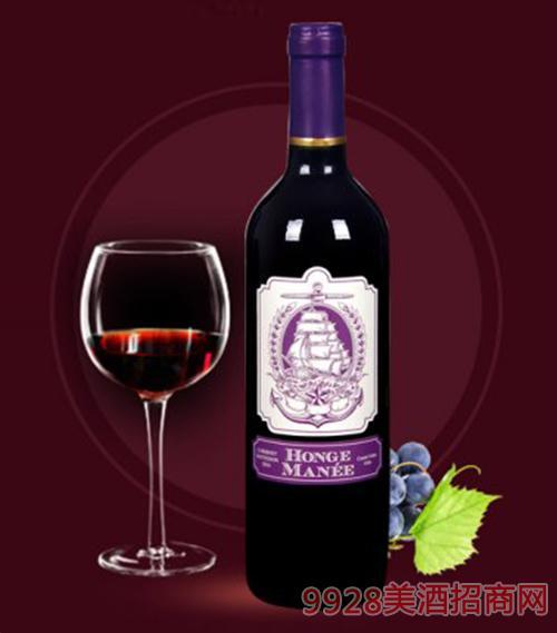红格蔓尼赤霞珠红葡萄酒750ml