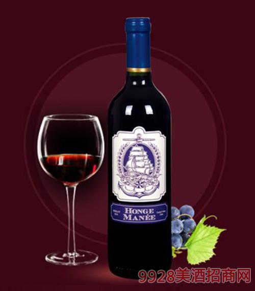 红格蔓尼美乐红葡萄酒750ml