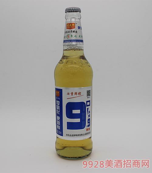 青岛金麦鲜啤酒瓶装9度