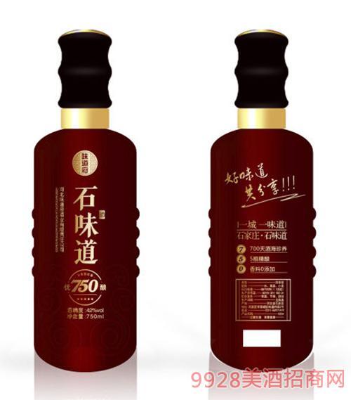 石味道酒优酿(红)42度750ml