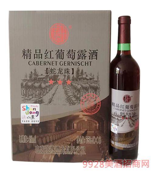 丰泰精品红葡萄露酒4°750ml