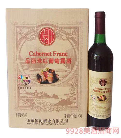 丰泰品丽珠红葡萄露酒4°750ml