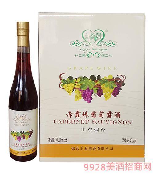 蓬休庄园赤霞珠葡萄露酒4°700ml