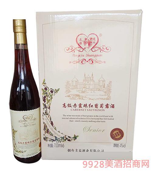 蓬休庄园高级赤霞珠红葡萄露酒4°700ml