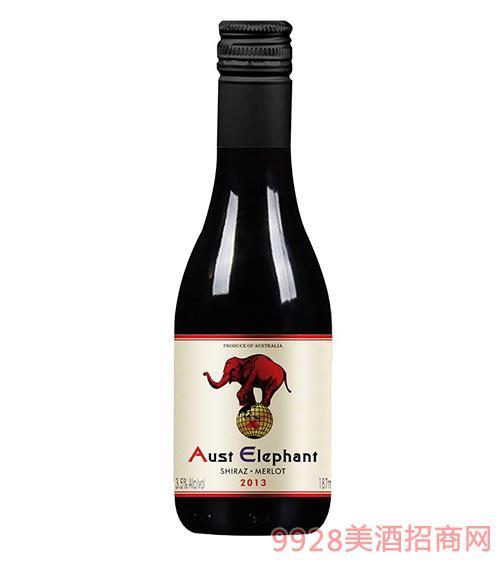 澳洲象迷你干红葡萄酒13.5度750ml
