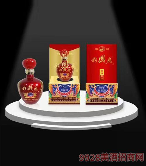 陕西彩凤飞10年陈酿酒50度500ml