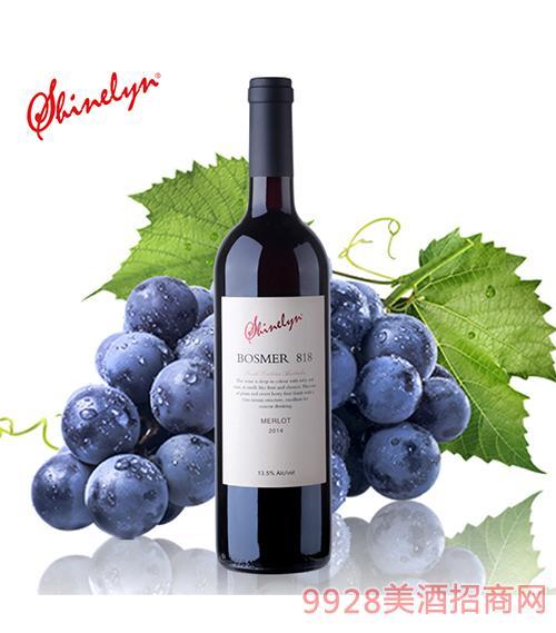 澳大利亞軒奈818干紅葡萄酒13.5度750ml