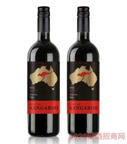 袋鼠梅洛干红葡萄酒750ml