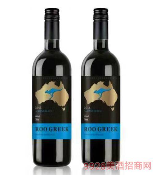 袋鼠茜拉干红葡萄酒750ml