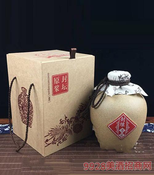 大豫鸿福黄酒五斤四耳原浆封坛酒