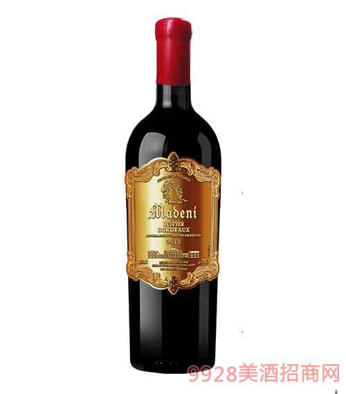 法国玛德尼美乐干红葡萄酒13度750ml