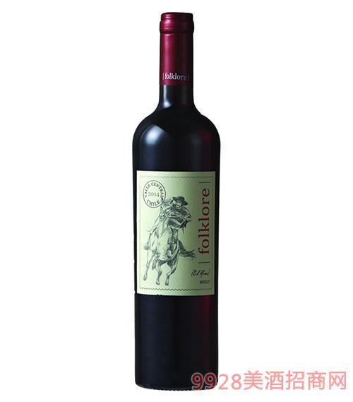 骑士传说美乐干红葡萄酒13.5度750ml
