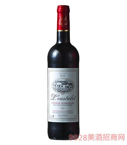 奥斯特干红葡萄酒13.5度750ml