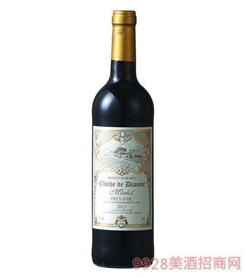 法国迪安奥克干红葡萄酒13度750ml