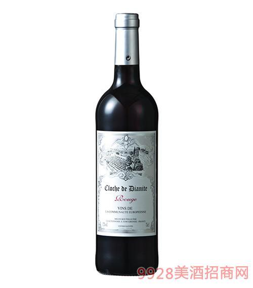 法国迪安干红葡萄酒12度750ml