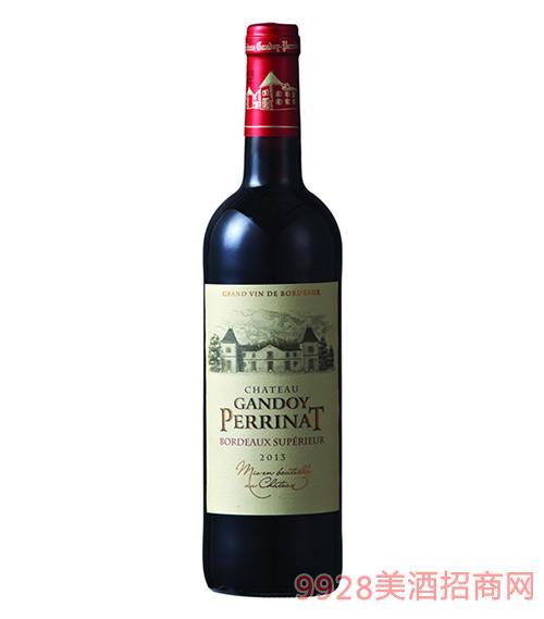 法国百纳城堡干红葡萄酒13度750ml