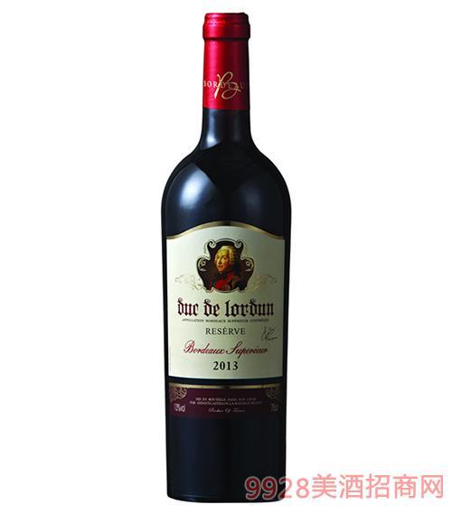 罗顿公爵珍藏波尔多干红葡萄酒13度750ml
