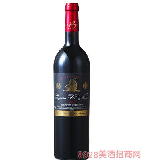龙船航行家优选波尔多干红葡萄酒12.5度750ml
