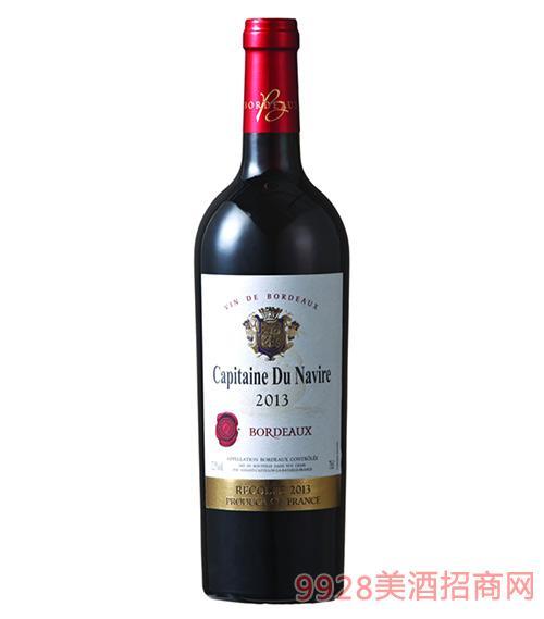 龙船航行家波尔多干红葡萄酒金标12.5度750ml