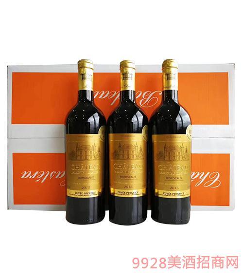 法国拉莫干红葡萄酒750ml