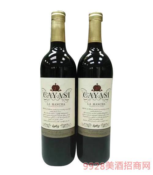 西班牙西拉干红葡萄酒750ml